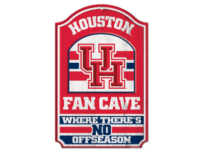Houston Cougars 11x17 Wood Sign