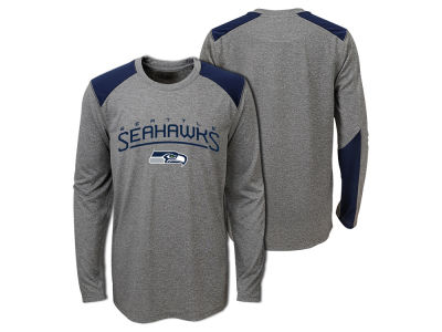 Seattle Seahawks NFL Youth Half Moon Long Sleeve Performance T-Shirt