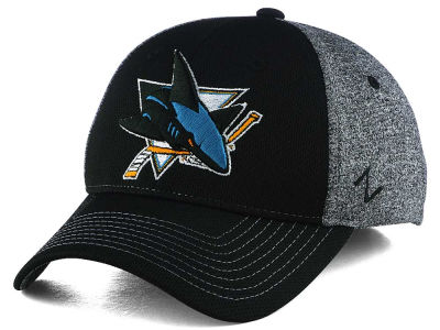 San Jose Sharks Zephyr NHL Fuse Curved Flex Cap