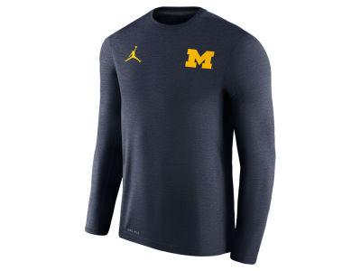 Michigan Wolverines Nike NCAA Men's Dri-Fit Touch Long Sleeve T-Shirt