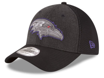 Baltimore Ravens New Era NFL Black Heather Neo 39THIRTY Cap