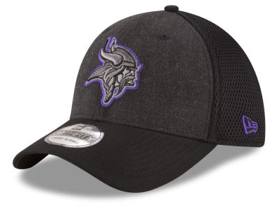 Minnesota Vikings New Era NFL Black Heather Neo 39THIRTY Cap