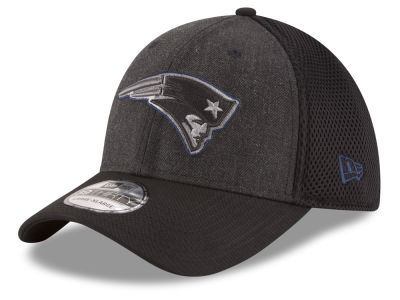 New England Patriots New Era NFL Black Heather Neo 39THIRTY Cap