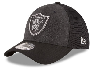 Oakland Raiders New Era NFL Black Heather Neo 39THIRTY Cap