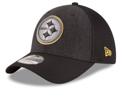 Pittsburgh Steelers New Era NFL Black Heather Neo 39THIRTY Cap
