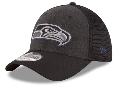 Seattle Seahawks New Era NFL Black Heather Neo 39THIRTY Cap