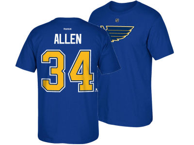 St. Louis Blues Jake Allen  Reebok NHL Men's Player T-Shirt
