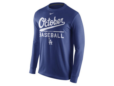 Los Angeles Dodgers MLB Men's Playoff October Baseball Long Sleeve T-Shirt