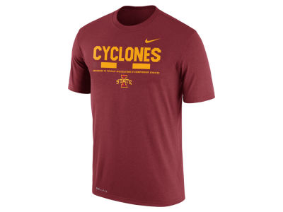 Iowa State Cyclones Nike 2017 NCAA Men's Legend Staff Sideline T-Shirt