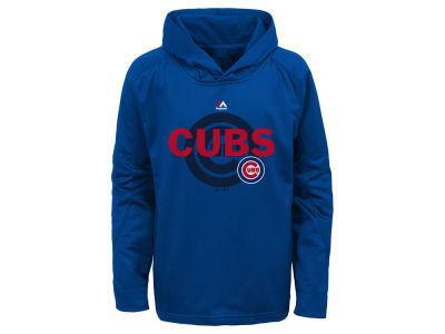 Chicago Cubs Majestic MLB Youth Clubhouse Poly Hoodie