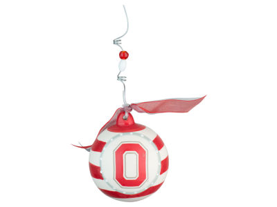 Ohio State Buckeyes Stripe Ball Ornament