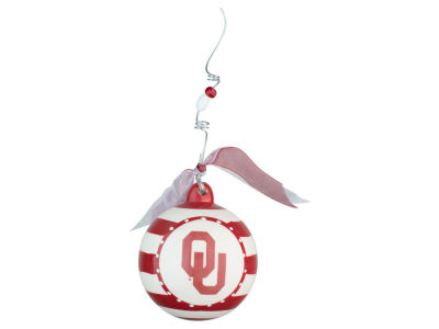 Oklahoma Sooners Stripe Ball Ornament