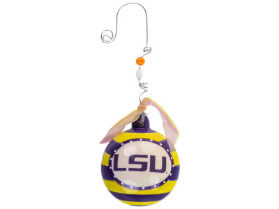 LSU Tigers Memory Company Stripe Ball Ornament
