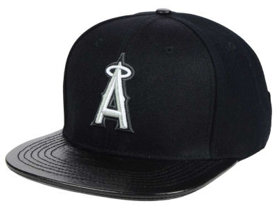 Los Angeles Angels Pro Standard Black and White Strapback Cap