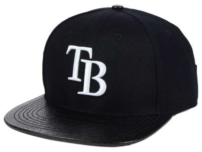 Tampa Bay Rays Pro Standard Black and White Strapback Cap