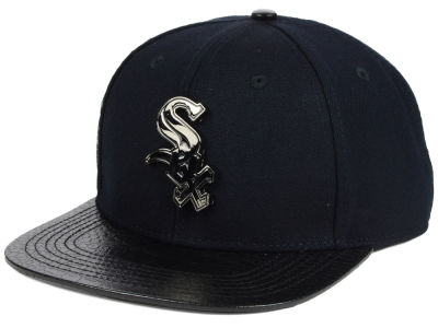 Chicago White Sox Pro Standard MLB Metal Black Stapback Cap