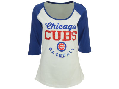 Chicago Cubs MLB Women's Side Zone Raglan T-Shirt
