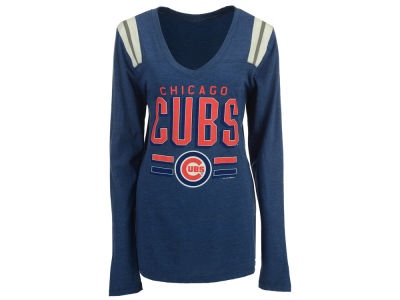 Chicago Cubs MLB Women's Free Kick Long Sleeve T-Shirt