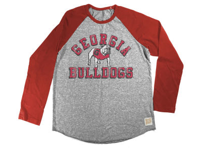 Georgia Bulldogs Retro Brand NCAA Youth Raglan Long Sleeve T-Shirt