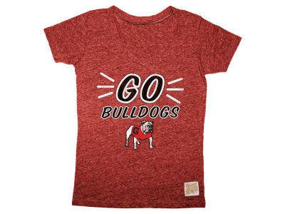 Georgia Bulldogs Retro Brand NCAA Girls Youth V Neck T-Shirt