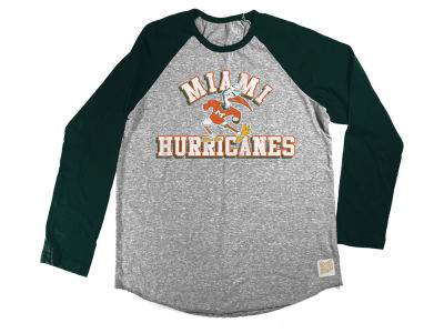 Miami Hurricanes Retro Brand NCAA Youth Raglan Long Sleeve T-Shirt