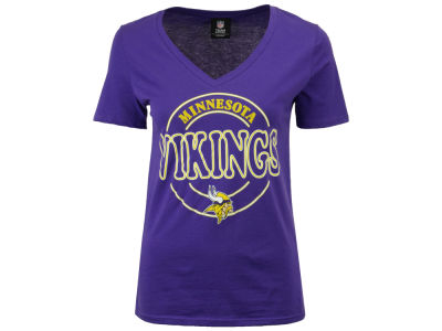 Minnesota Vikings NFL Women's Circle Glitter T-Shirt