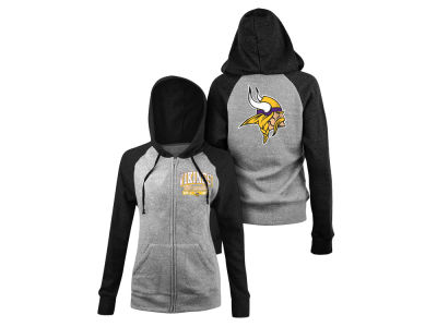 Minnesota Vikings 5th & Ocean NFL Women's Audible Hooded Sweatshirt