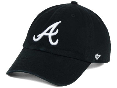 Atlanta Braves '47 MLB Black White '47 CLEAN UP Cap