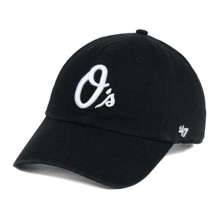 Baltimore Orioles '47 MLB Black White '47 CLEAN UP Cap
