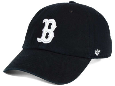 Boston Red Sox '47 MLB Black White '47 CLEAN UP Cap