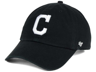 Cleveland Indians '47 MLB Black White '47 CLEAN UP Cap