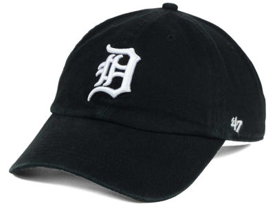 Detroit Tigers '47 MLB Black White '47 CLEAN UP Cap