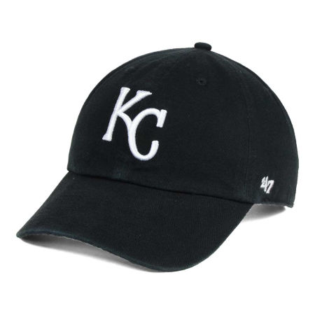 Kansas City Royals '47 MLB Black White '47 CLEAN UP Cap