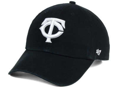 Minnesota Twins '47 MLB Black White '47 CLEAN UP Cap