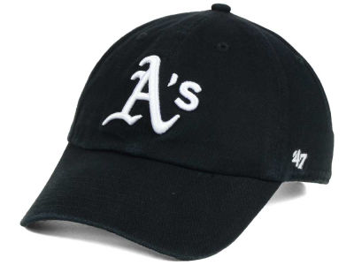 Oakland Athletics '47 MLB Black White '47 CLEAN UP Cap