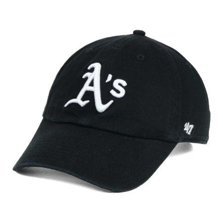 Oakland Athletics '47 MLB Black White '47 CLEAN UP Cap