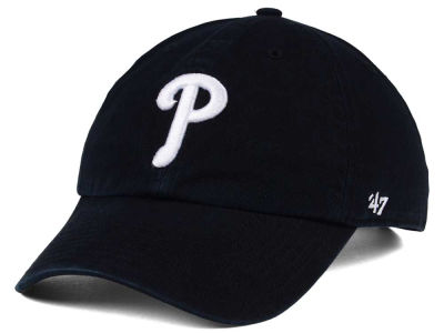 Philadelphia Phillies '47 MLB Black White '47 CLEAN UP Cap