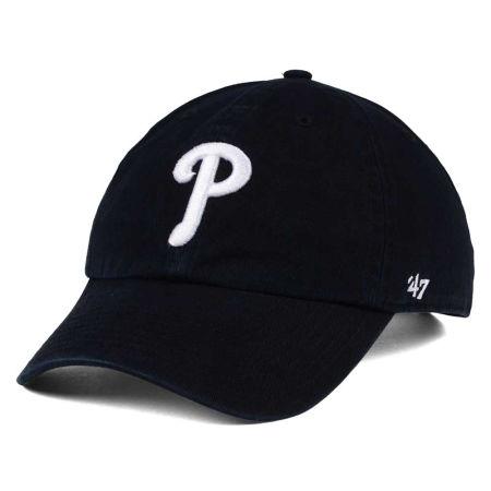 Philadelphia Phillies '47 MLB Black White '47 CLEAN UP Cap