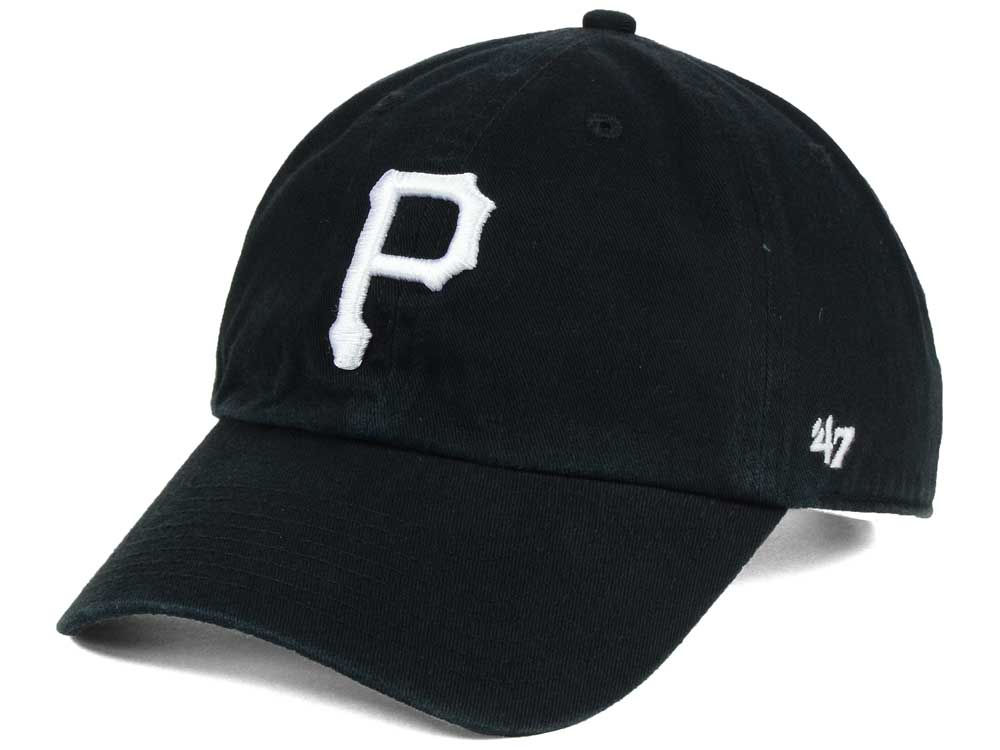 new concept 63129 8a1b7 ... usa pittsburgh pirates 47 mlb black white 47 clean up cap 61eae 4c708