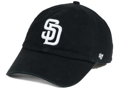 San Diego Padres '47 MLB Black White '47 CLEAN UP Cap