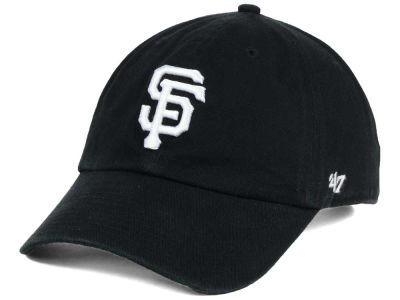 San Francisco Giants '47 MLB Black White '47 CLEAN UP Cap