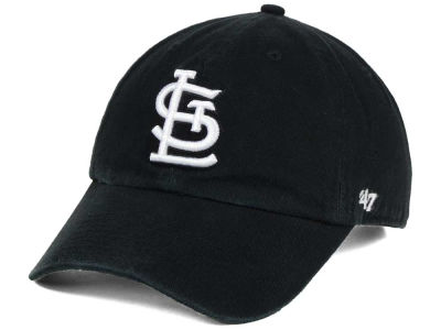 St. Louis Cardinals '47 MLB Black White '47 CLEAN UP Cap