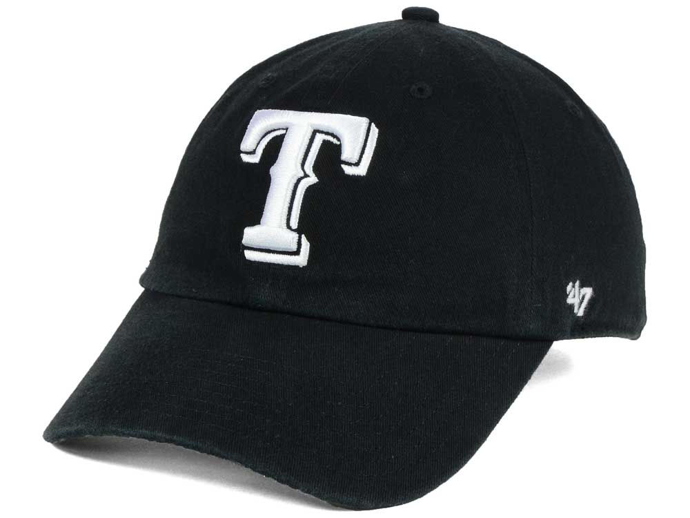 wholesale dealer 50874 80831 ... top quality texas rangers 47 mlb black white 47 clean up cap lids 08e8e  ec3af