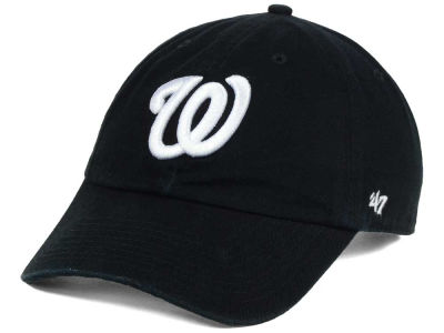 Washington Nationals '47 MLB Black White '47 CLEAN UP Cap