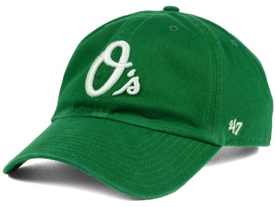Baltimore Orioles '47 MLB Kelly White '47 CLEAN UP Cap