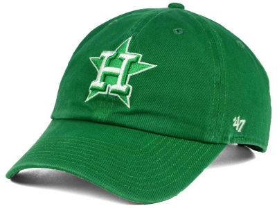 Houston Astros '47 MLB Kelly White '47 CLEAN UP Cap