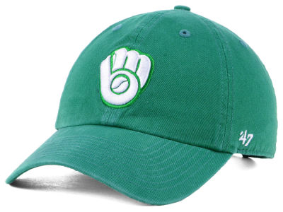 Milwaukee Brewers '47 MLB Kelly White '47 CLEAN UP Cap