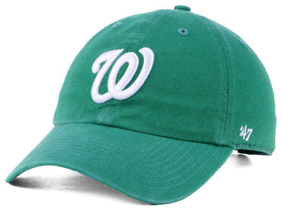 Washington Nationals '47 MLB Kelly White '47 CLEAN UP Cap