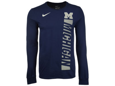 Michigan Wolverines Nike NCAA Men's Football Momentum Long Sleeve T-Shirt