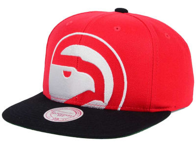Atlanta Hawks Mitchell and Ness NBA Hardwood Classic Cropped XL Logo Snapback Cap